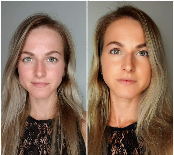 Tarte Amazonian Clay Full Coverage Airbrush Foundation - Before and After